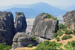 Huge Meteora rocks Royalty Free Stock Photography