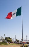 Huge Mexican Flag in Ensenada Stock Photos