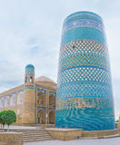 The huge minaret. The Kalta Minor Minaret is the symbol of Khiva and one of the most recognizible sites of Uzbekistan royalty free stock photos