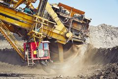 Huge mining machine Royalty Free Stock Images
