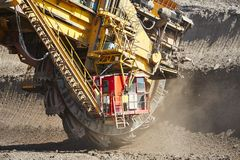 Huge mining machine Stock Photography