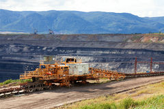 Huge mining machine in the coal mine Royalty Free Stock Image