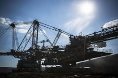 A huge mining machine Royalty Free Stock Images