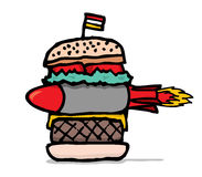 Huge missile burger Royalty Free Stock Image