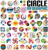 Huge modern circle infographic design template set. For banners, business backgrounds, presentations Stock Photography