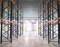 Huge modern empty storehouse Royalty Free Stock Photo