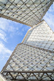 Huge modern monument contrast the blue sky Stock Photo