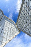 Huge modern monument contrast the blue sky Royalty Free Stock Photos