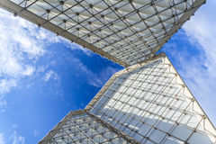 Huge modern monument contrast the blue sky Royalty Free Stock Images
