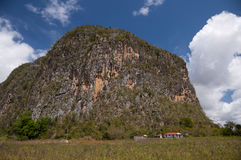 Huge mogote in the valley of Vinales, Cuba Royalty Free Stock Photo
