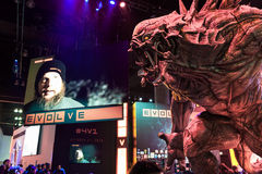 Huge monster at evolve booth at E3 2014 Royalty Free Stock Photo