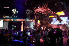 Huge monster at evolve booth at E3 2014 Stock Image