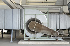Huge motor blower for chiller Stock Photography