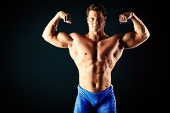 Huge muscles Stock Photography