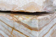 Huge natural stone material Royalty Free Stock Photography