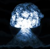 Huge nuclear explosion Royalty Free Stock Photo