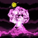 Huge nuclear explosion Stock Photos