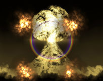 Huge nuclear explosion Stock Image
