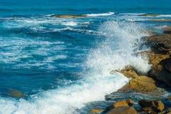 Bondi Beach, Australia. Huge ocean swell bringing in big waves in Bondi Beach Australia Royalty Free Stock Image