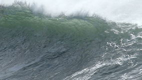 Huge Ocean Wave Breaking Off the Coast of California stock video