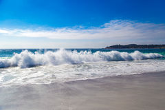 Huge Ocean Waves in Carmel-by-the-Sea, in California, USA.  Royalty Free Stock Image