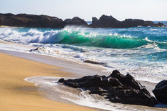 Huge Ocean Waves in Garrapata State Beach in California Stock Photography