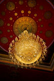 The huge old antique chandelier from the ceiling o Stock Image