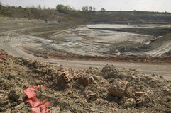 Huge opencast mine Royalty Free Stock Image