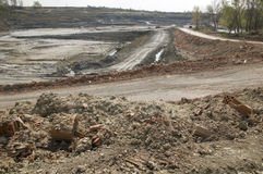 Huge opencast mine Stock Image