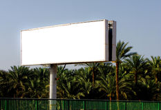 Huge outdoor billboard. Huge advertising outdoor billboard with white space to put your design Stock Photo