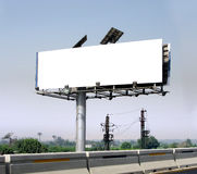 Huge outdoor billboard. Huge advertising outdoor billboard with white space to put your design Royalty Free Stock Image