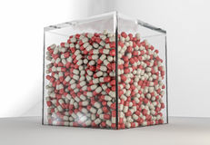 Huge pack of pills Royalty Free Stock Photo