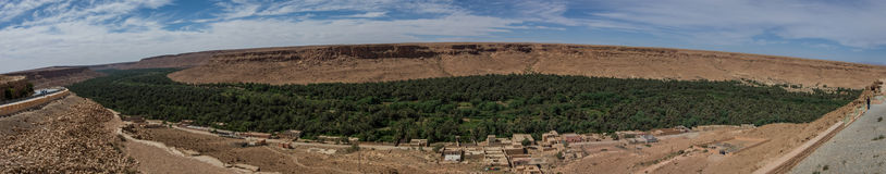 Huge palm grove in Ziz river valley, Morocco. Royalty Free Stock Photo