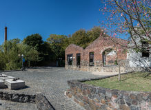 Huge Panorama. Colonia del Sacramento, Uurguay, Historic Street, traveling Sout stock images