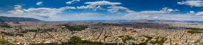 Huge Panorama View of Athens Royalty Free Stock Images