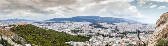 Huge Panorama View of Athens Royalty Free Stock Photo
