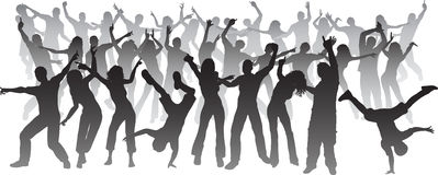 Huge party Royalty Free Stock Images