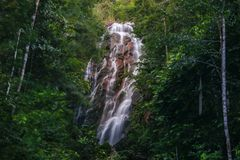 Huge Phaeng Waterfall Koh Phangan Thailand Surat thani royalty free stock photo
