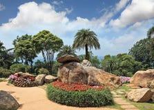 Huge picturesque landscape park Royalty Free Stock Image