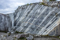 A huge piece of untreated marble. In the Republic of Karelia, Russia Stock Image