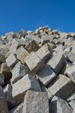 Huge pile of cobbled stones Royalty Free Stock Photos