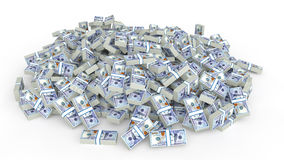 Huge pile of dollars cash Royalty Free Stock Image