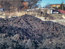 A huge pile of earth around the plant Stock Image