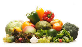 A huge pile of fresh and green vegetables Royalty Free Stock Image