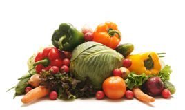 A huge pile of fresh and tasty green vegetables Royalty Free Stock Photos