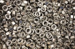 A huge pile of metal nuts