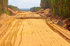 Huge pile of sand for road construction Stock Photography