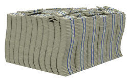 Huge pile of US dollars isolated. Lots of money. Huge pile of US dollars isolated Royalty Free Stock Photography