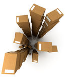 Huge piles of parcels Stock Images