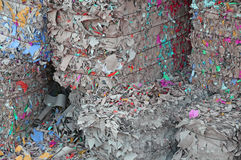 Huge piles of waste paper Royalty Free Stock Images